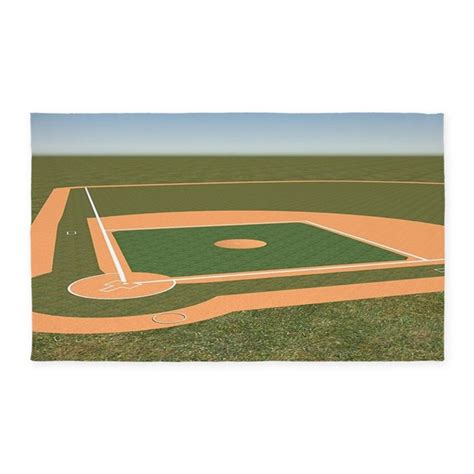 3 x5 baseball field area rug by forgottenmemory