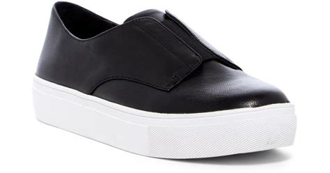 Slip On On19 Putih 2 lyst steven by steve madden garnet slip on platform sneaker in black