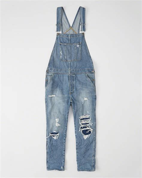 Riped Overall Darked Ripped Wd mens ripped overalls mens bottoms abercrombie