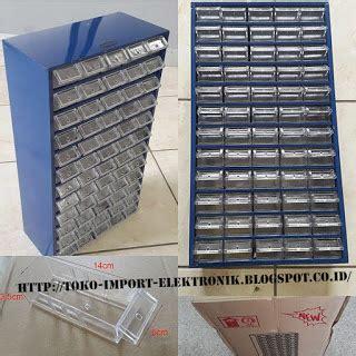 Nn Baut L Seetpost 5 5cm rak komponen isi 60 slot box rangka besi toko import