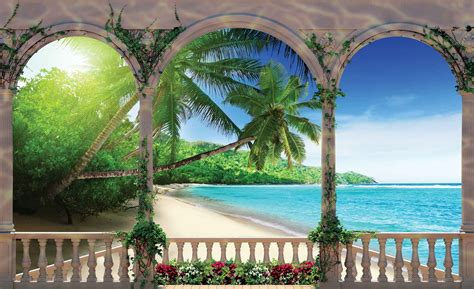 wall murals posters tropical wall paper mural buy at europosters