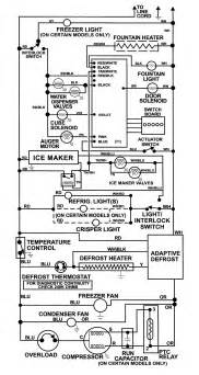 wiring information diagram parts list for model msd2756dew maytag parts refrigerator parts