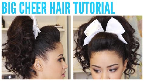 bump ponytail for big forehead big cheer hair tutorial perfect poof and curly