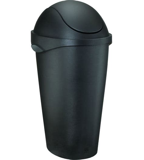 swing top trash can umbra swing top trash can black in kitchen trash cans