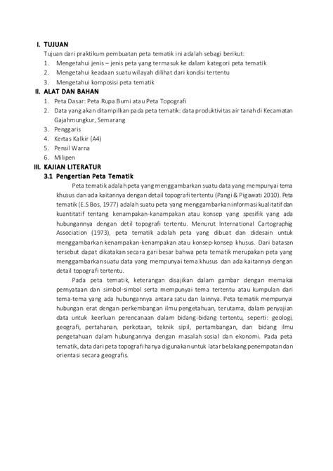 laporan layout peta tematik laporan pembuatan peta tematik