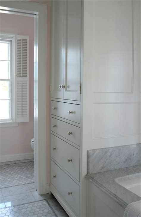 built ins traditional bathroom portland by emerick