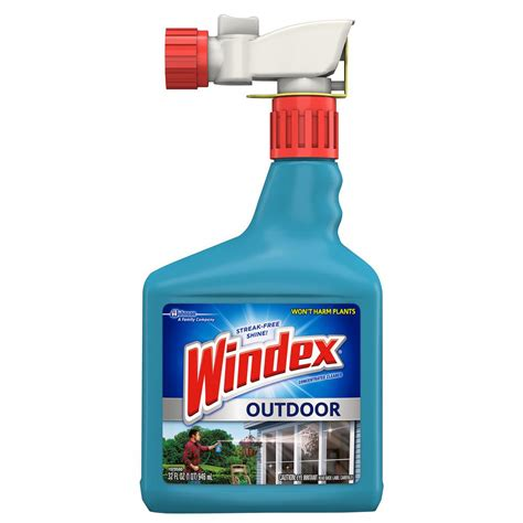 Windex 32 oz. Outdoor Glass Cleaner 040132   The Home Depot