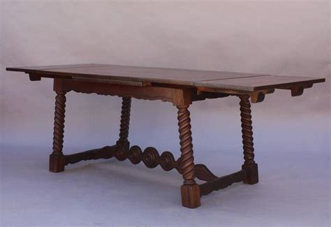 Antique Dining Table With Pull Out Leaves Antique 1920s Revival Table With Pull Out Leaves At 1stdibs