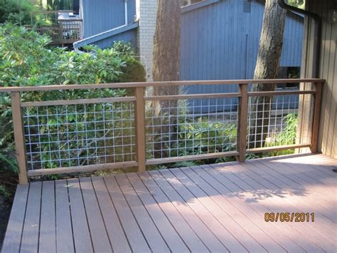 outdoor garden inexpensive square wire deck railing