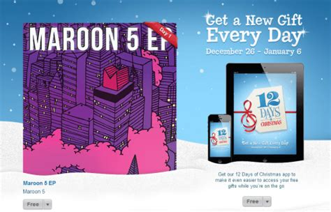 Itunes Christmas Giveaway - itunes 12 days of christmas giveaway day 1 maroon 5 ep canadian freebies