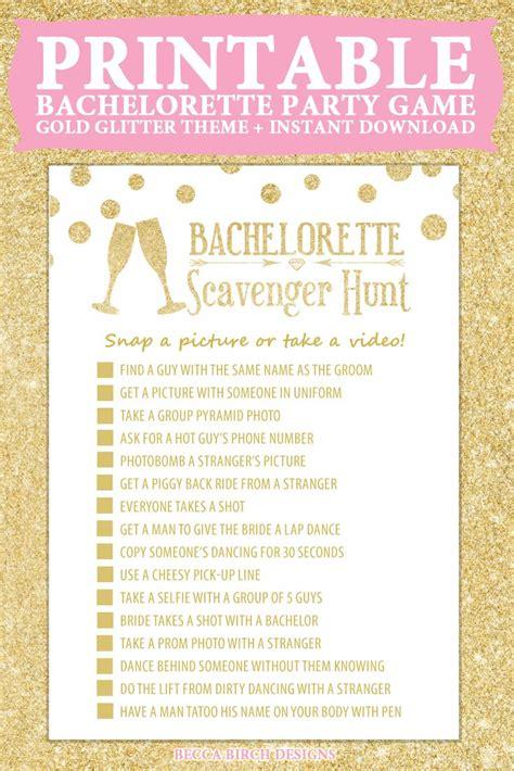printable party games bachelorette scavenger hunt nashlorette hen night