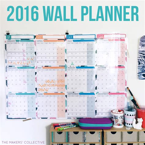 printable wall planner 2016 australia the 2016 wall planner design has landed 187 the makers