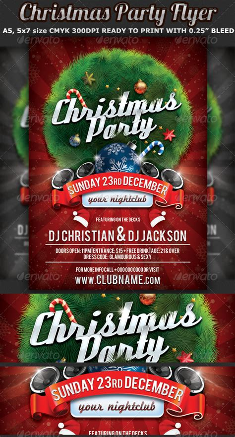 Christmas Party Flyer Celebration Template By Hotpin Graphicriver Flyer Celebration Template
