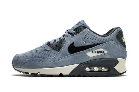 Nike Airmax90 Suede nike air max 90 navy blue perforated suede sneakers