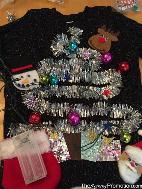 diy ugly christmas sweater lights long sweater jacket