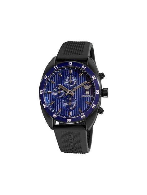 emporio armani s sport rubber band chronograph blue
