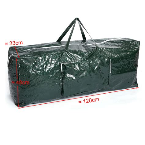 christmas tree bag zip up storage 120x48x33cm xmas trees