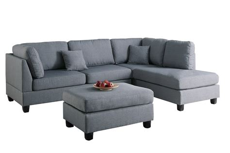 sectional sofa with ottoman set modern contemporary polyfiber fabric sectional sofa and