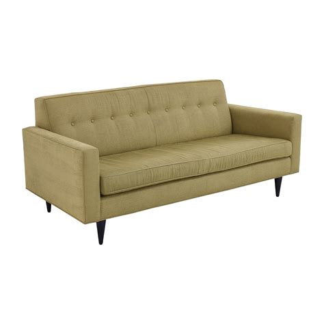 green tufted sofa 59 off design within reach design within reach bantam
