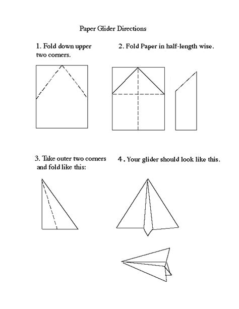 How Do You Make A Paper Glider - paper airplane gliders