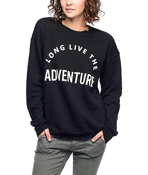 Sweater Wish You Were 1 wish you were northwest live adventure black crew