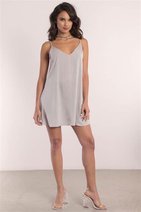 Slop Dress taupe shift dress slip dress beige dress 58 00