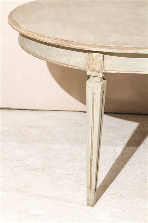 Swedish Oval Shaped Gustavian Style Dining Table At 1stdibs Oval Shaped Dining Tables