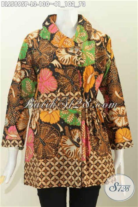 Baju Batik Korset Tali Model Jakarta baju batik modern pakaian batik halus buatan model lengan panjang kerah miring pake tali
