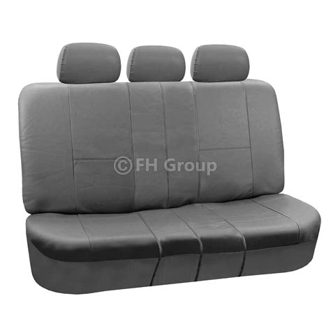 split bench seat 3 row pu leather seat covers for suv air bag safe split