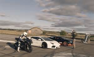 Lamborghini Vs Motorcycle Motorcycle Bmw S1000rr Takes On Ultimate Supercars