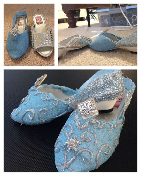 diy elsa shoes diy elsa shoes the swirls were made using glittered