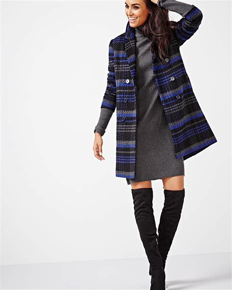 Breasted Plaid Jacket plaid breasted coat rw co