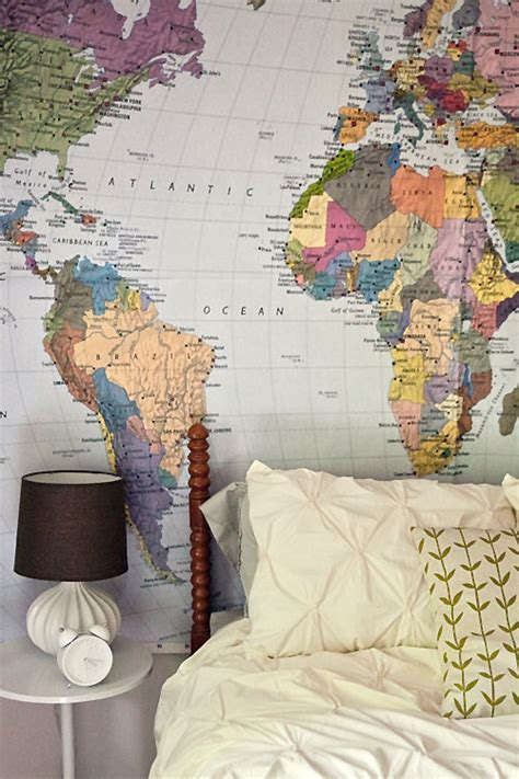 big world map in the guest room wit whistle