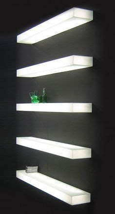 glass shelves with lights built in 1000 images about shelves wall mounted on