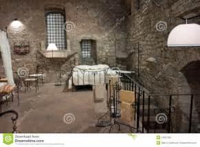 Gothic Dining Room mening van een middeleeuwse slaapkamer perugia stock