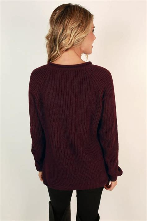 Sweater You Me Maroon easy like sunday morning sweater in maroon impressions boutique