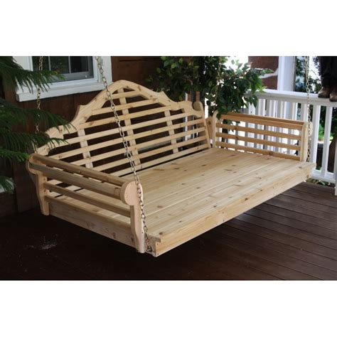 unfinished porch swing pine 6 marlboro swing bed a l