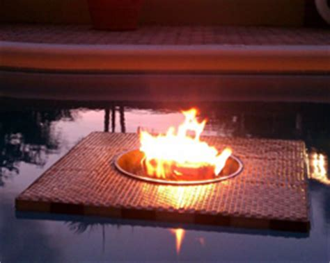 floating firepit fire on water