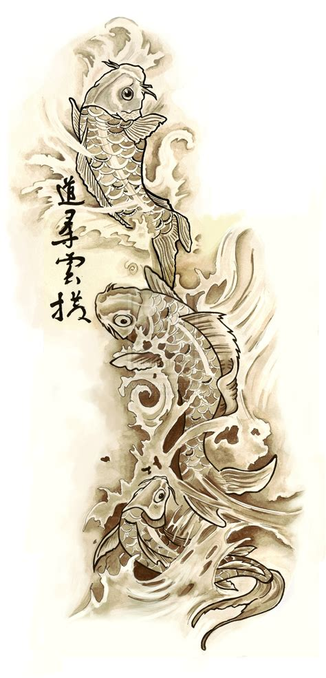 fish tattoo designs art ink koi