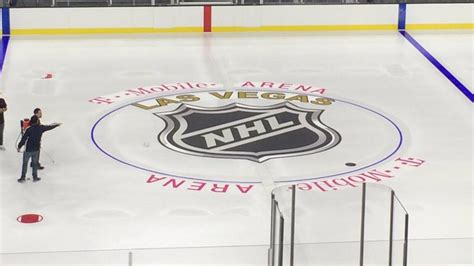 nhl mobile las vegas finishes installation at t mobile arena