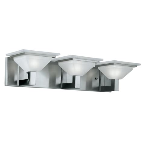 Brushed Nickel Vanity Lights Bathroom Portfolio 3 Light Retro Brushed Nickel Bathroom Vanity Light Lowe S Canada