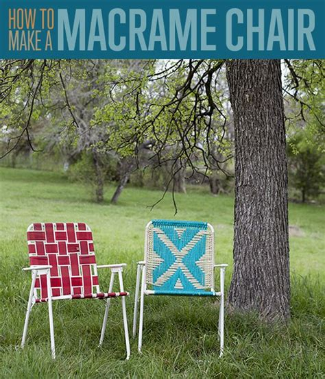 Macrame Lawn Chair by How To Make A Macrame Lawn Chair Crafty Chairs Diy