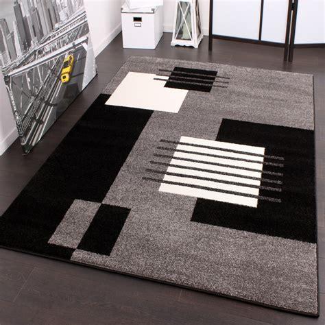 teppich grau schwarz designer teppich karo stil in grau schwarz weiss top