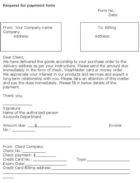 request for payment form template request for payment form template pictures