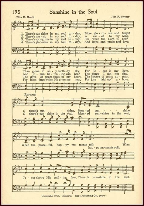 printable sheet music hymns 106 best christian hymns vintage images on pinterest