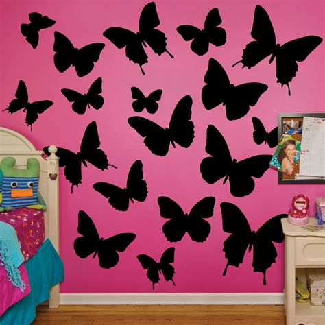 black butterfly wall stickers black butterflies realbig wall decal