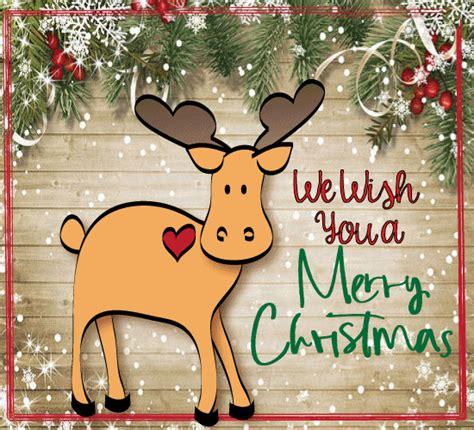 merry christmas moose ecard  humor pranks ecards