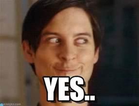 Yes Meme Face - yes spiderman peter parker meme on memegen