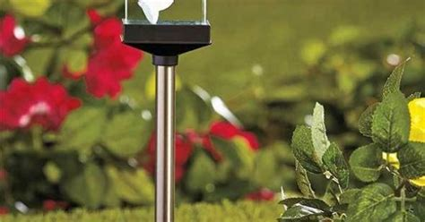 solar crystal memorial stake cross garden cemetery grave