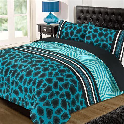 Elliot Printed Black Duvet Quilt Cover Set Linens Range Animal Print Quilt Cover With Pillowcase Duvet Bedding Set Raffile Black Pink Ebay